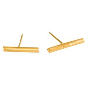 עגילי מקלון זהב