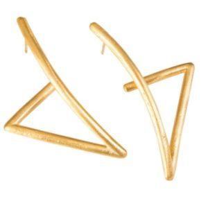 עגילי משולש זהב