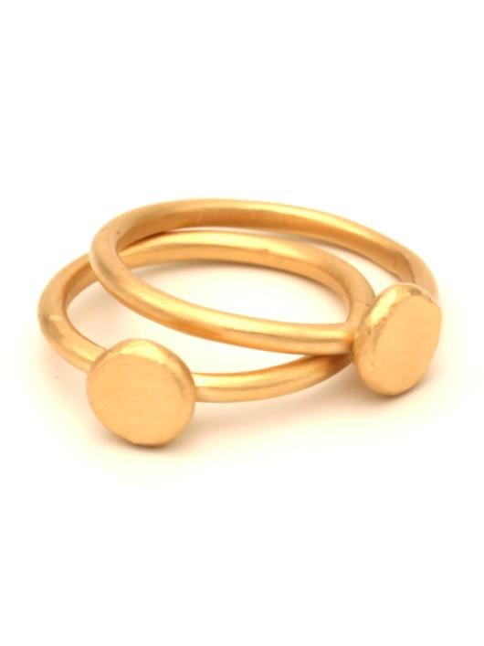 טבעת מצדה מיני זהב