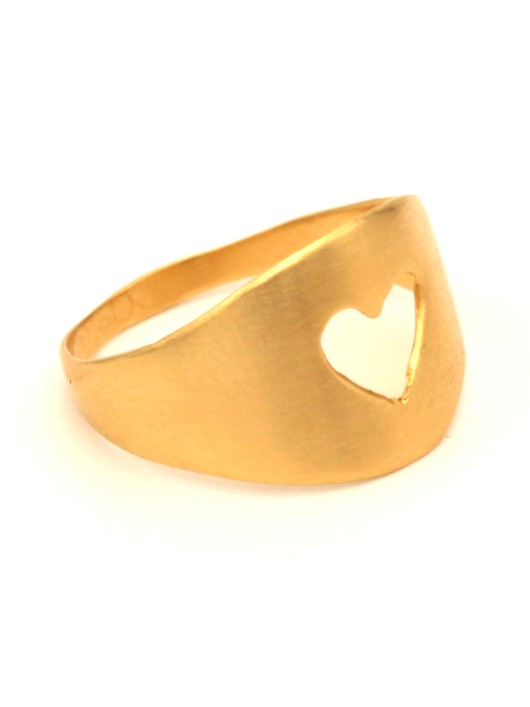 טבעת אז לב זהב